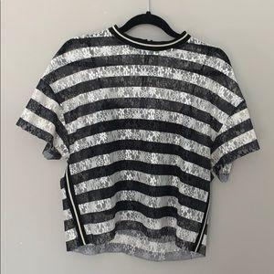 ZARA Lacey Striped Top